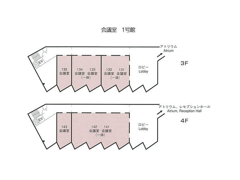会議室(1号館)の平面図画像