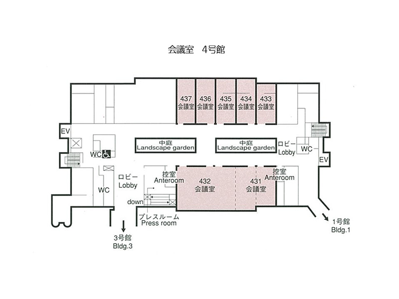 会議室(4号館)の平面図画像