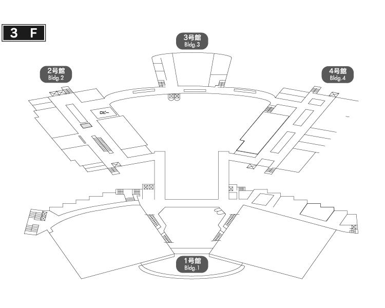 会場案内 3階フロア図