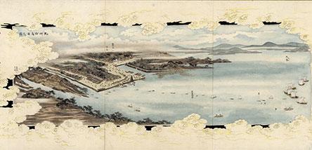 江戸時代の会議場周辺を描いた絵
